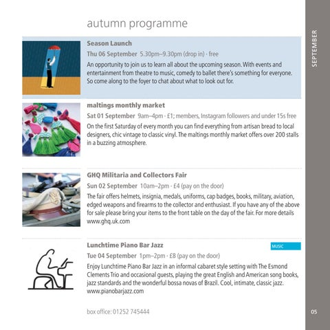 Page 5 of Autumn Main Programme