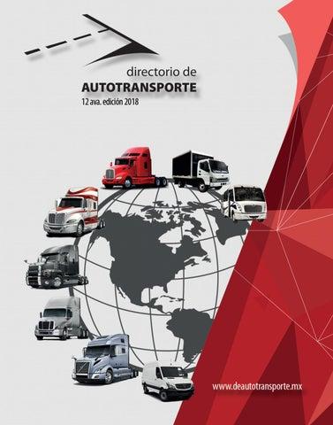 63ba5238145d Directorio de Autotransporte 2018 by Revista Hombre Camión - issuu