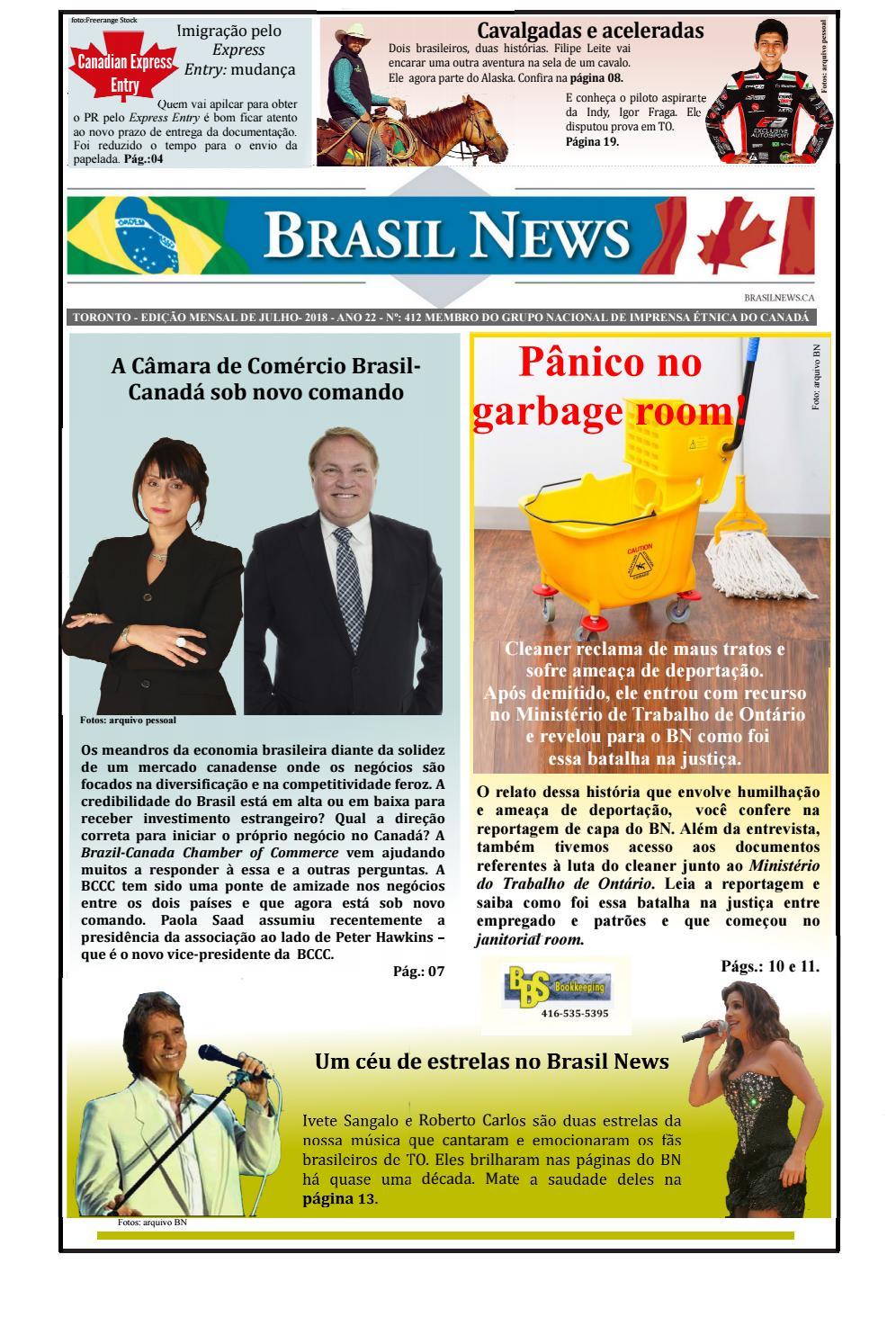 Edição De Julho De 2018 Brasil News By Portal Brasil News