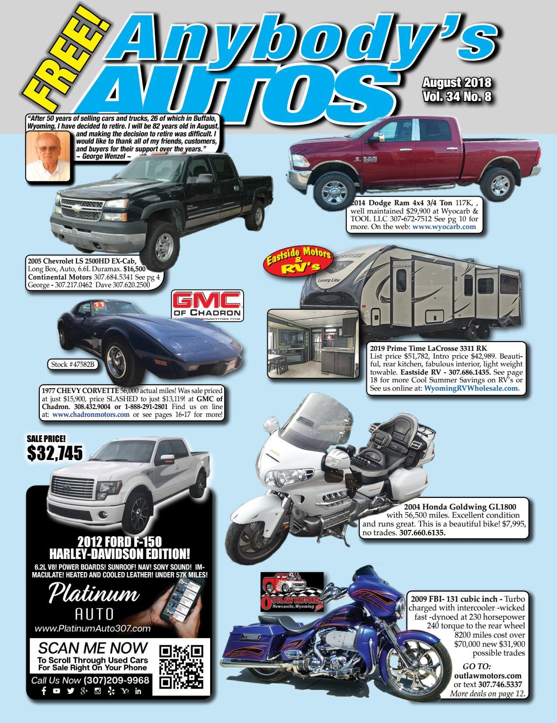 August 2018 by Anybodys Autos - issuu