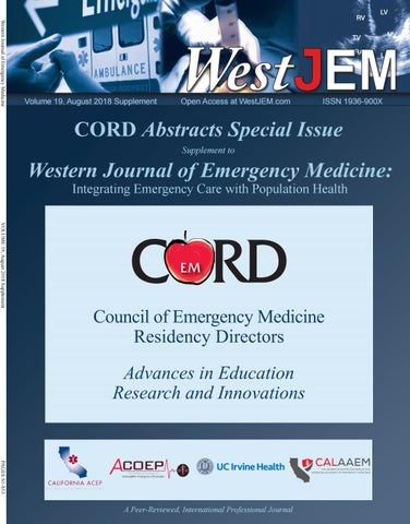 Volume 19 Issue 4 Supplement: CORD Advances in Education