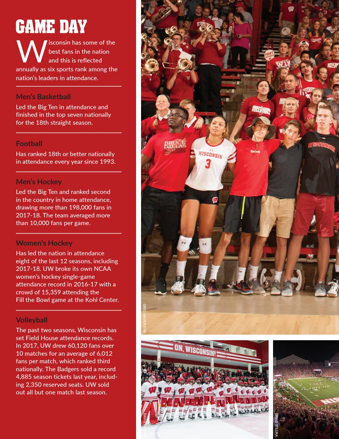 Wisconsin Athletics 2017 18 Annual Report By Wisconsin