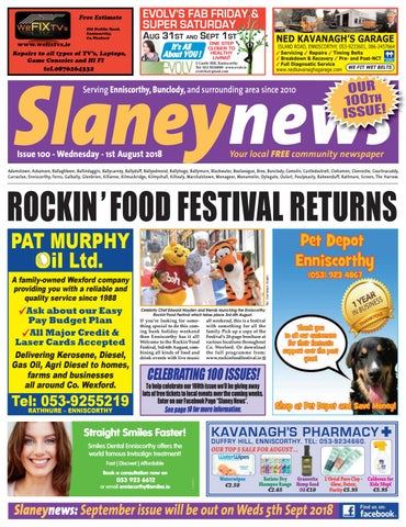 d2d43f6d0 Slaney News, Issue 100, August 2018 by Frank Corcoran - issuu