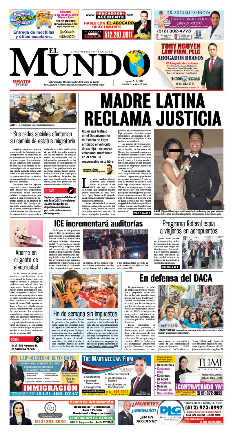 El Mundo Newspaper 31 - 2018 by El Mundo Newspaper - issuu 6d0f408eabb