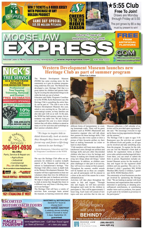 3ecc12c3839 Moose Jaw Express