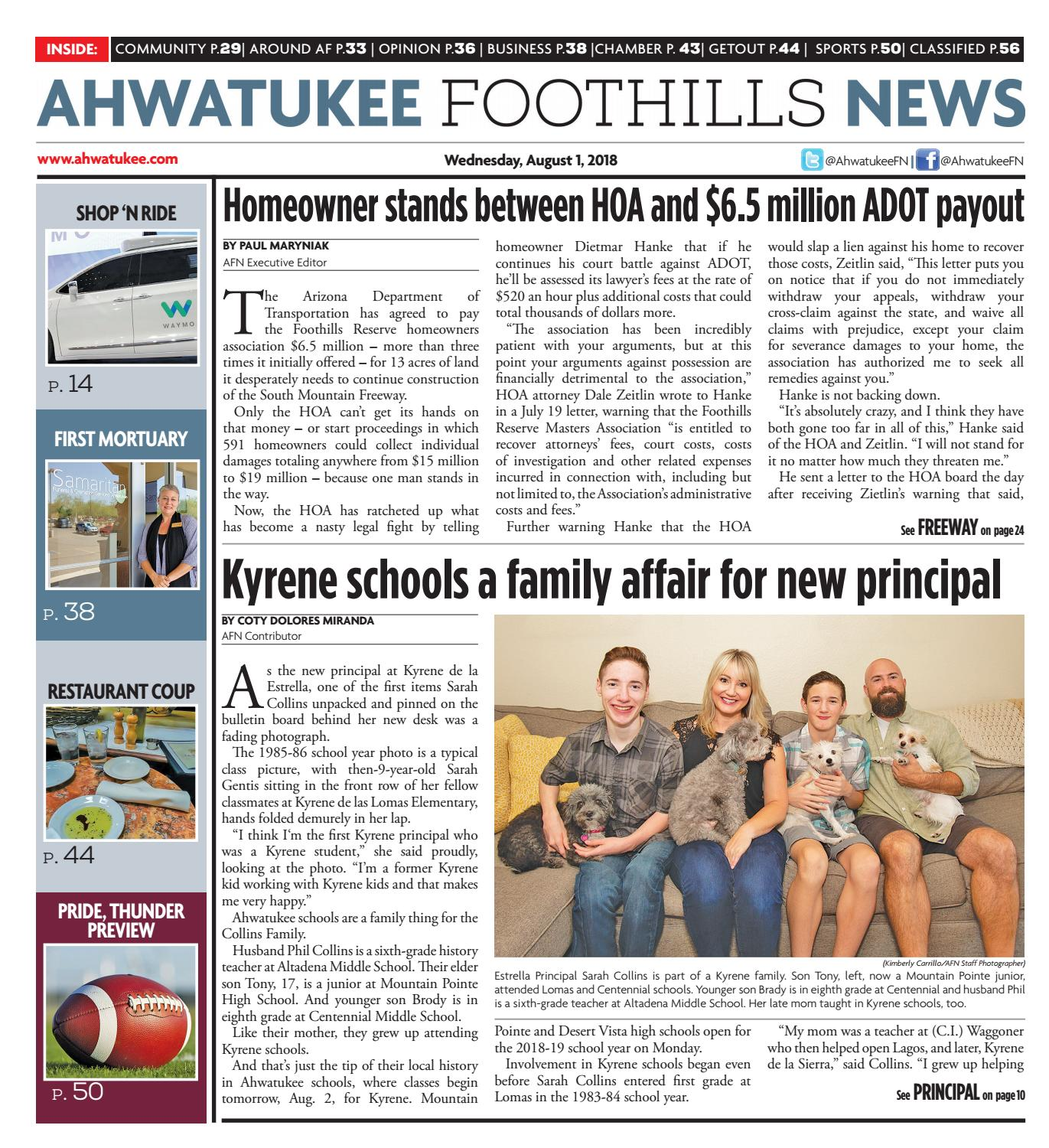 Ahwatukee Foothills News - August 1, 2018 by Times Media Group - issuu