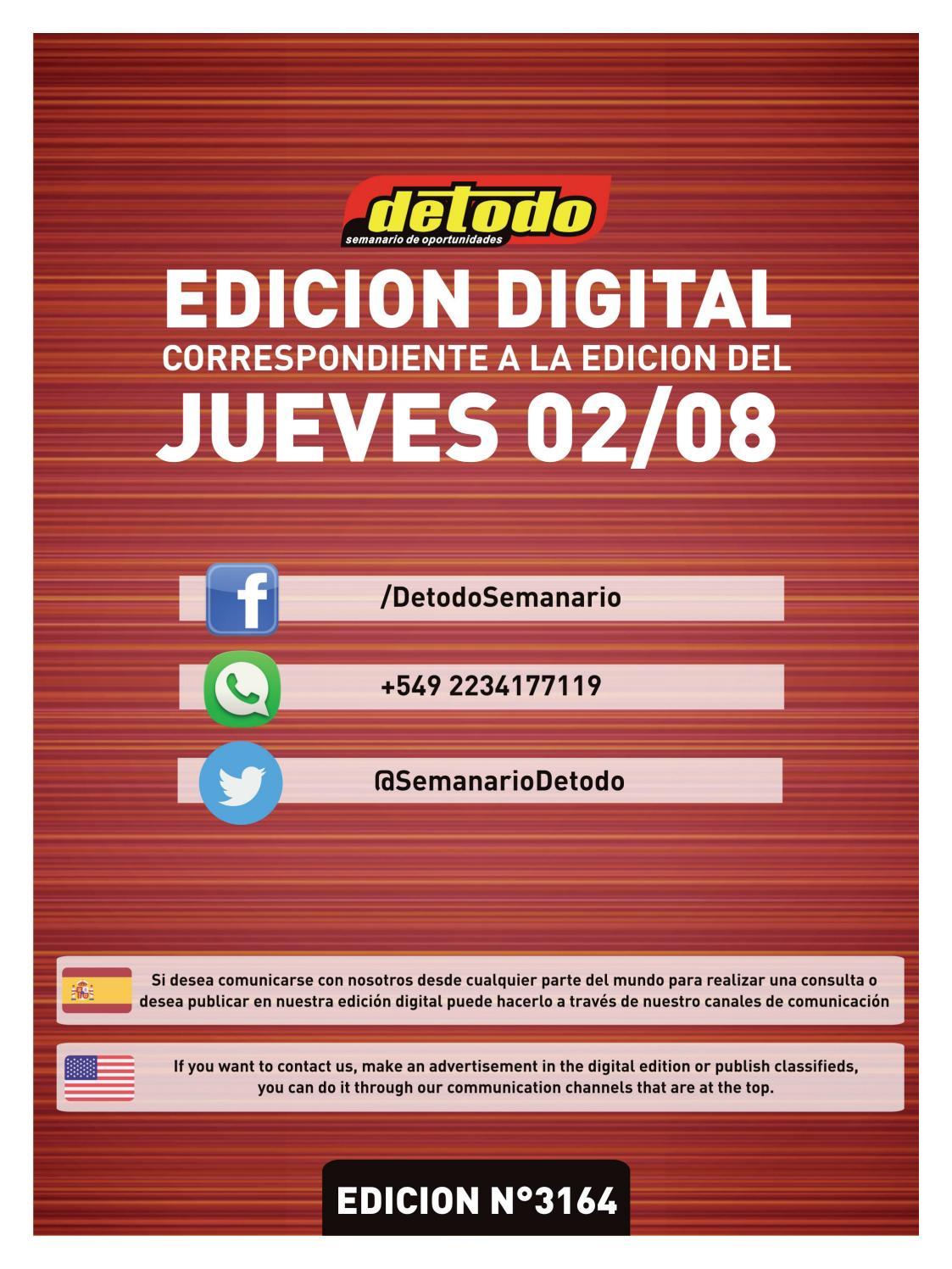 c7adc6b3262a6 Semanario Detodo - Edición N° 3164 - 02 08 2018 by Semanario Detodo - issuu