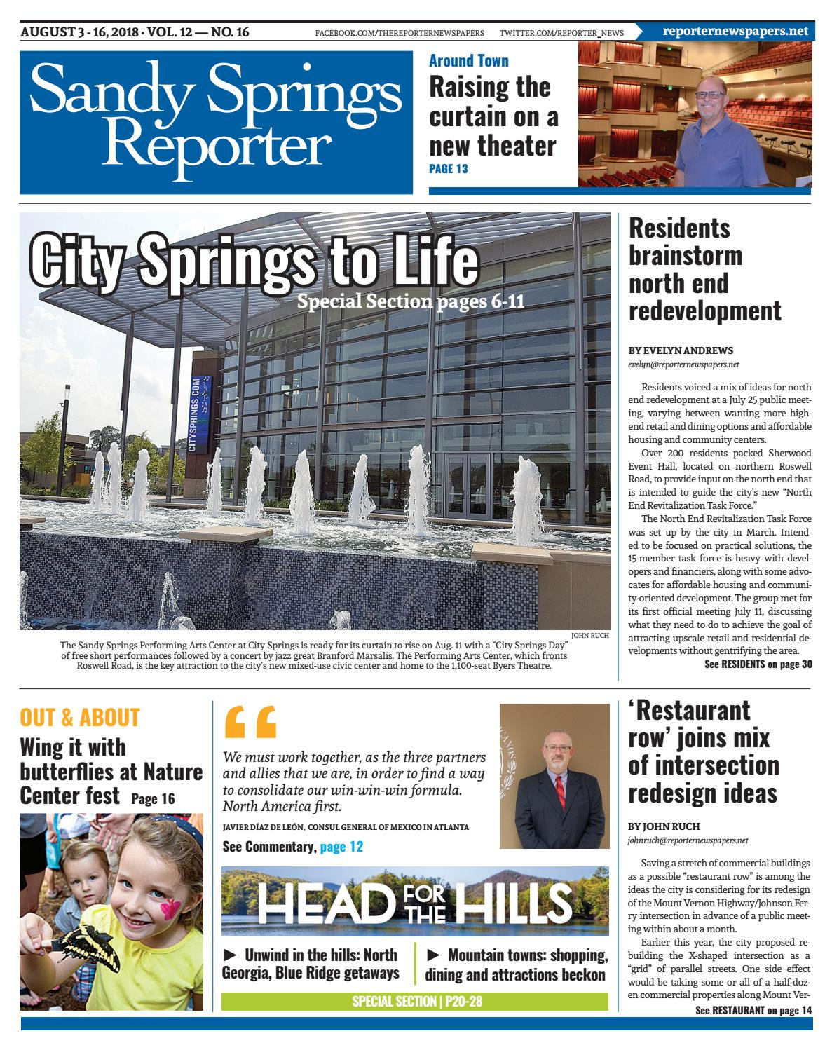 08-03-18 - Sandy Springs Reporter by Reporter Newspapers - issuu