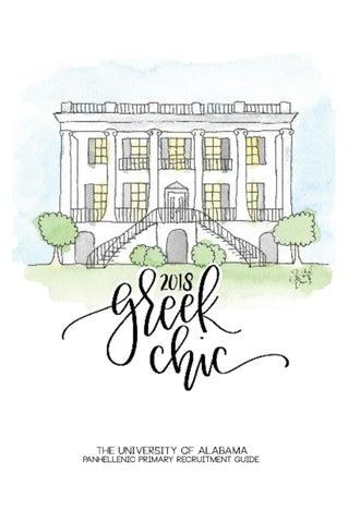 University Of Alabama Greek Chic 2018 By Alabama Panhellenic