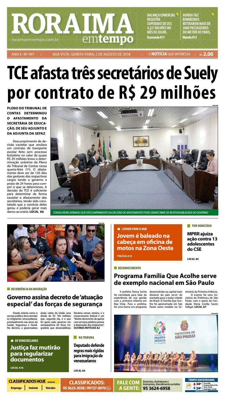 e126837c92 Jornal Roraima em tempo – edição 997 by RoraimaEmTempo - issuu
