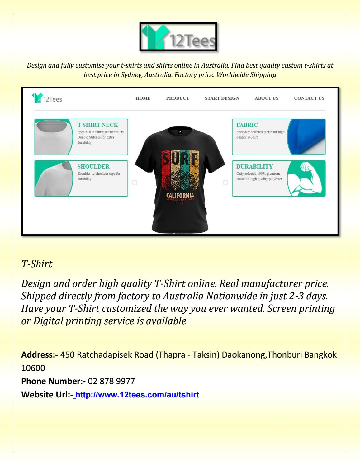 t shirt screen printing online