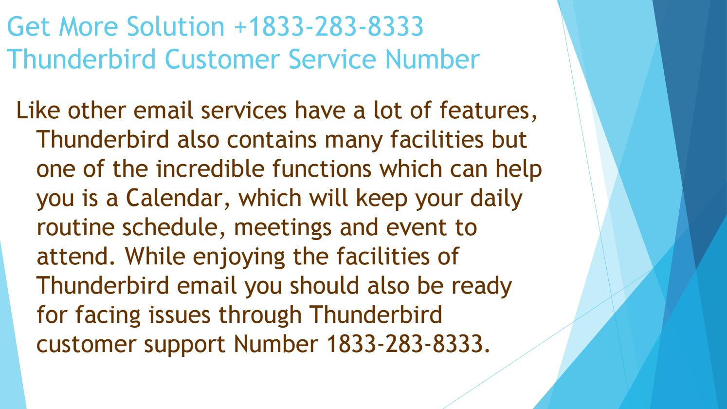 Thunderbird Email Customer Service Number 1833-283-8333 by