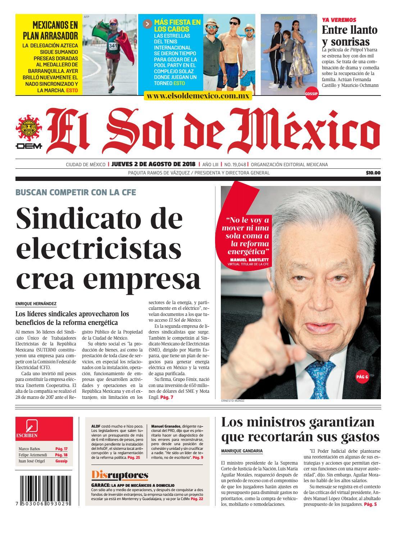 El sol de México 2 de agosto del 2018 by El Sol de México - issuu cc545a58dff