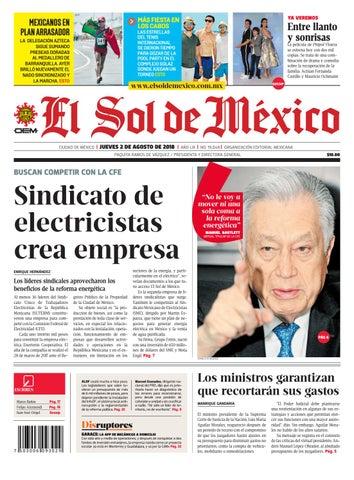 El sol de México 2 de agosto del 2018 by El Sol de México - issuu c71b34bb0de