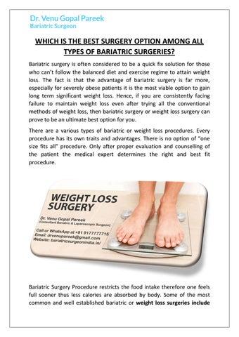 Best Weight Loss Surgeon In Hyderabad By Bariatricsurgeonindia Issuu