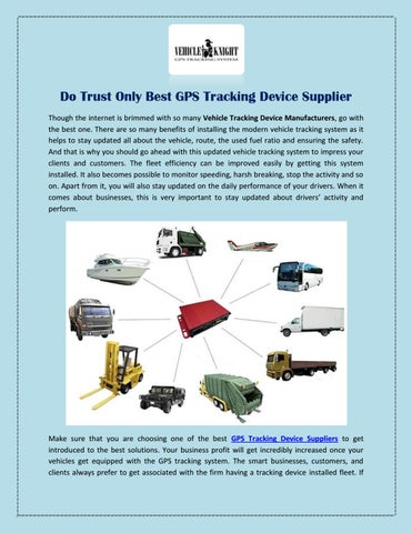 Do Trust Only Best GPS Tracking Device Supplier by Vehicle
