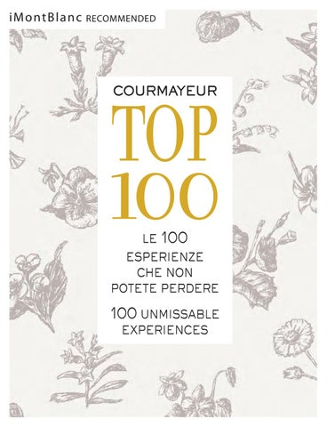 Courmayeur TOP 100 by Gianluca Martinelli - issuu