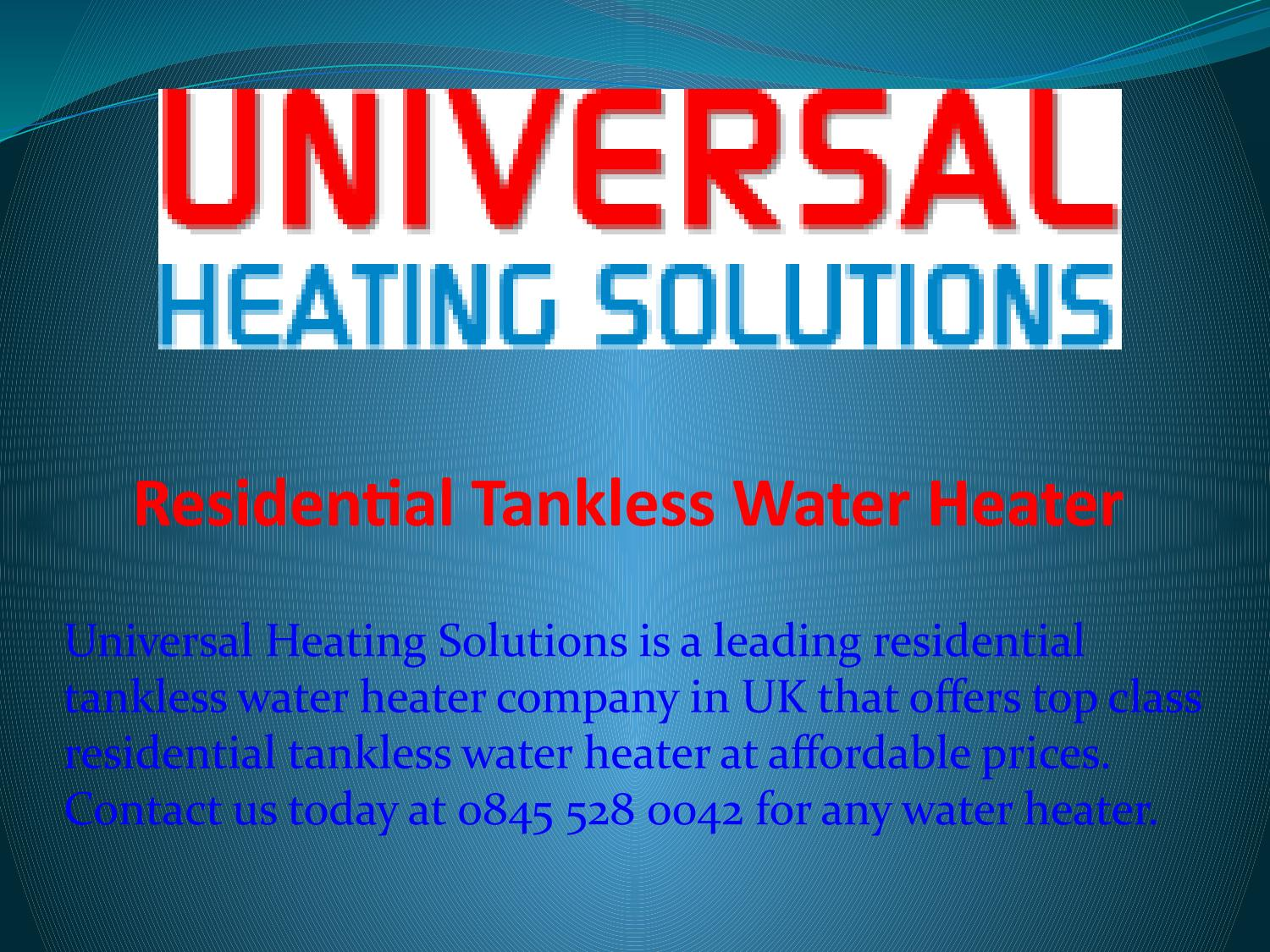 Residential Tankless Water Heater by Stef Gibson - issuu