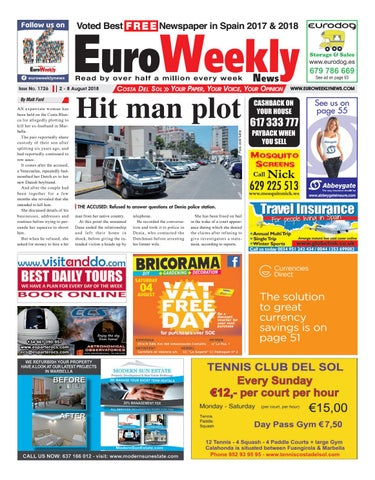 quality design 4b6a7 b6055 Euro Weekly News - Costa del Sol 2 - 8 August 2018 Issue 1726 by ...