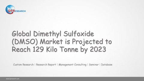 Global Dimethyl Sulfoxide (DMSO) Market is Projected to Reach 129 Kilo  Tonne by 2023