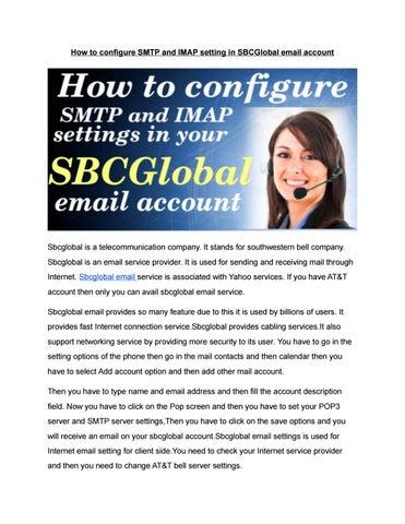 Sbcglobal email settings imap