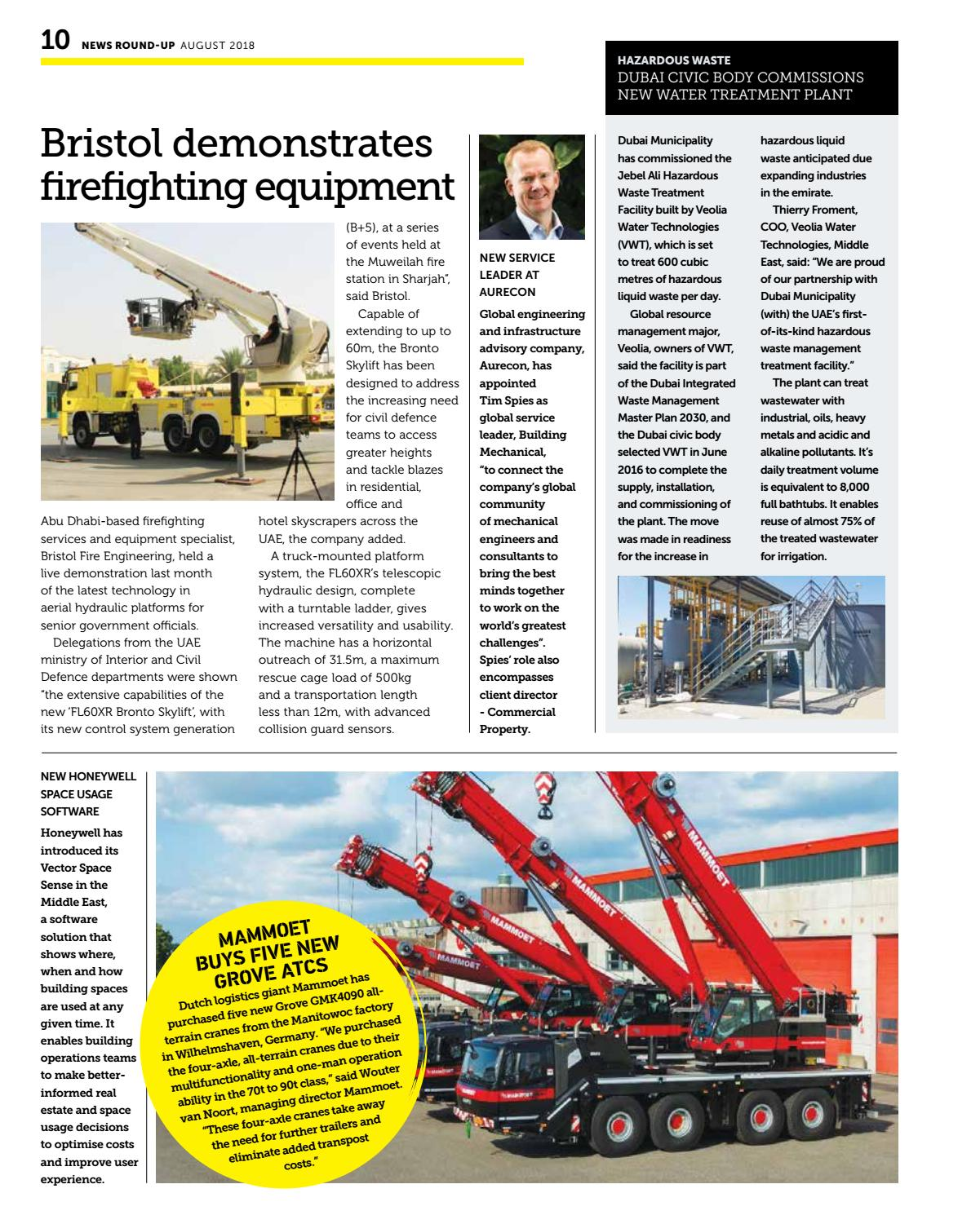 Construction Machinery ME August 2018 by CPI Trade Media - issuu