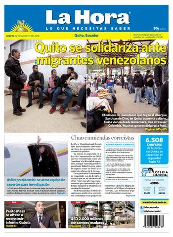 Quito 02 de agosto de 2018 by Diario La Hora Ecuador - issuu f2ff43c7d6f