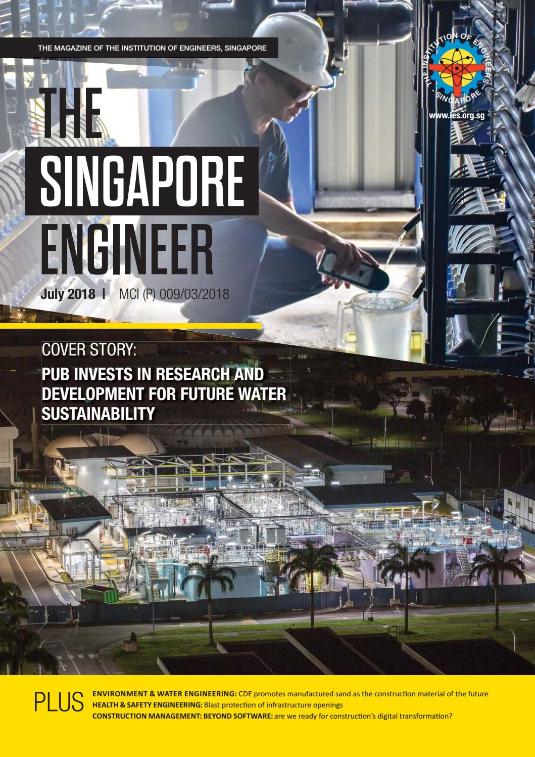 The Singapore Engineer July 2018 by The Singapore Engineer - issuu