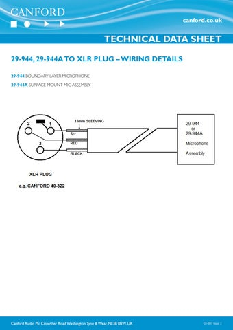 Marvelous 02 387 29 944 29 944A To Xlr Plug Wiring Details By Canford Wiring Database Pengheclesi4X4Andersnl