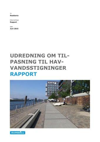 Udredning Om Tilpasning Til Havvandsstigninger Rapport By