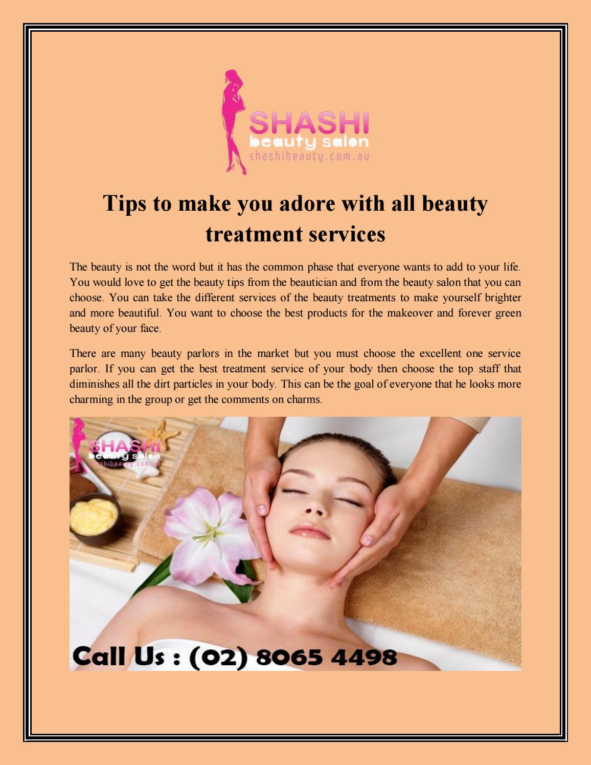 Tips To Make You Adore With All Beauty Treatment Services By Amit Mishra Issuu
