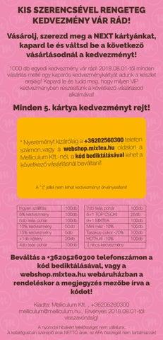 085d133b677d Vásárolj, szerezd meg a NEXT kártyánkat, kapard le és váltsd be a következő  vásárlásodnál a kedvezményt! 1000 db egyedi kedvezmény vár rád!
