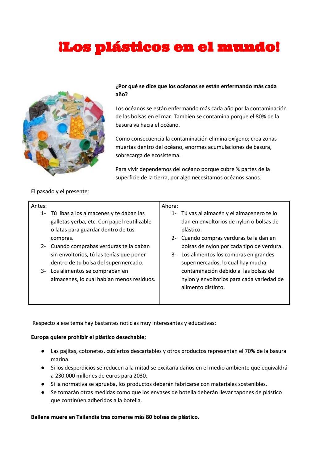 f1c496628 ¡Los plásticos en el mundo! by nareh1011 - issuu