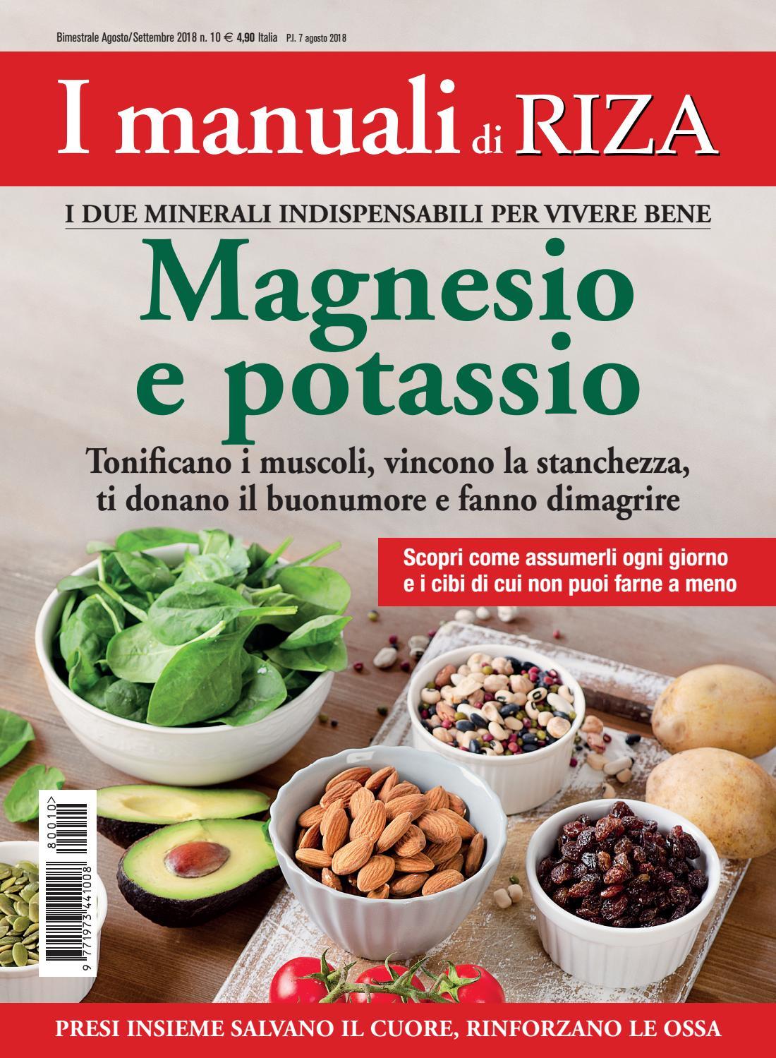 magnesio nella dieta dimagrante
