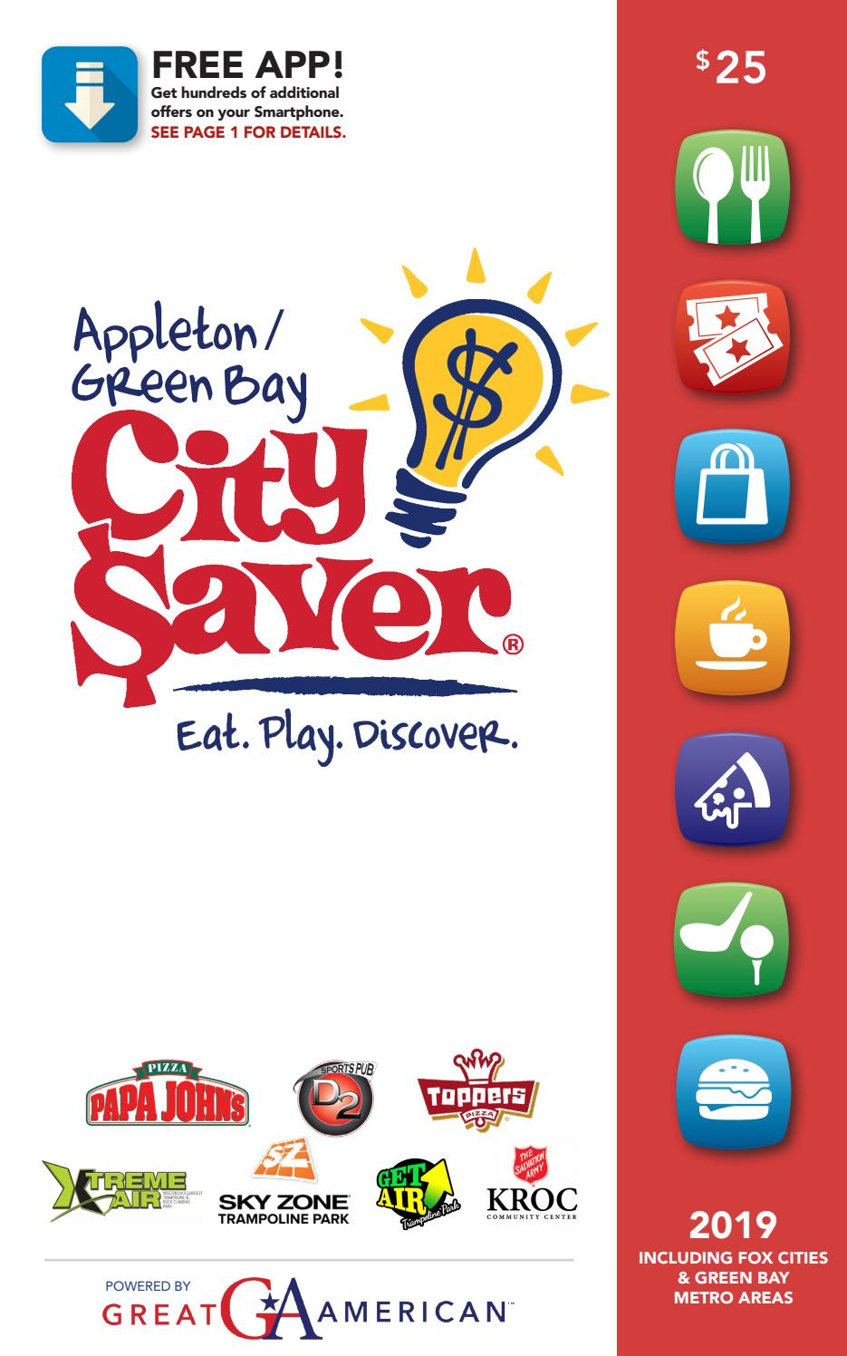 2019 Appleton Green Bay, WI City Saver Coupon Book by gaschoolstore ...