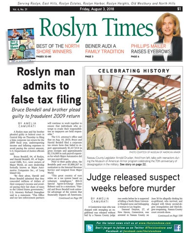 Roslyn times 08 03 18 by The Island Now - issuu