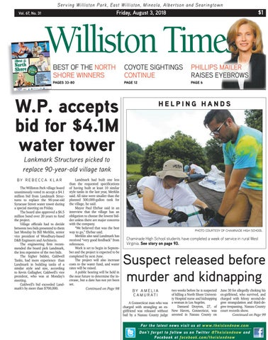 Williston times 08 03 18 by The Island Now - issuu