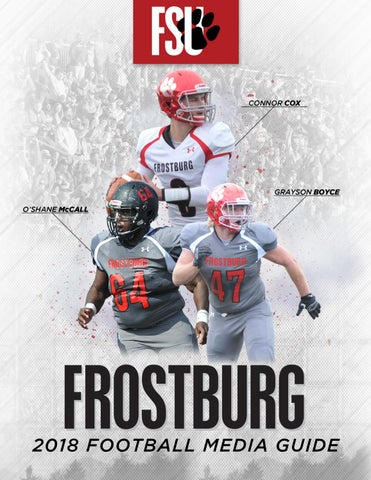 2018 Frostburg Football Media Guide by Frostburg State