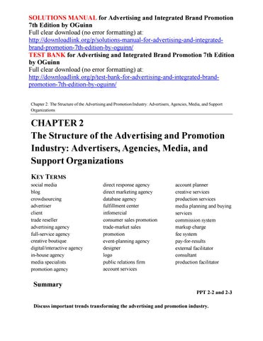Advertising And Integrated Brand Promotion 7th Edition Pdf