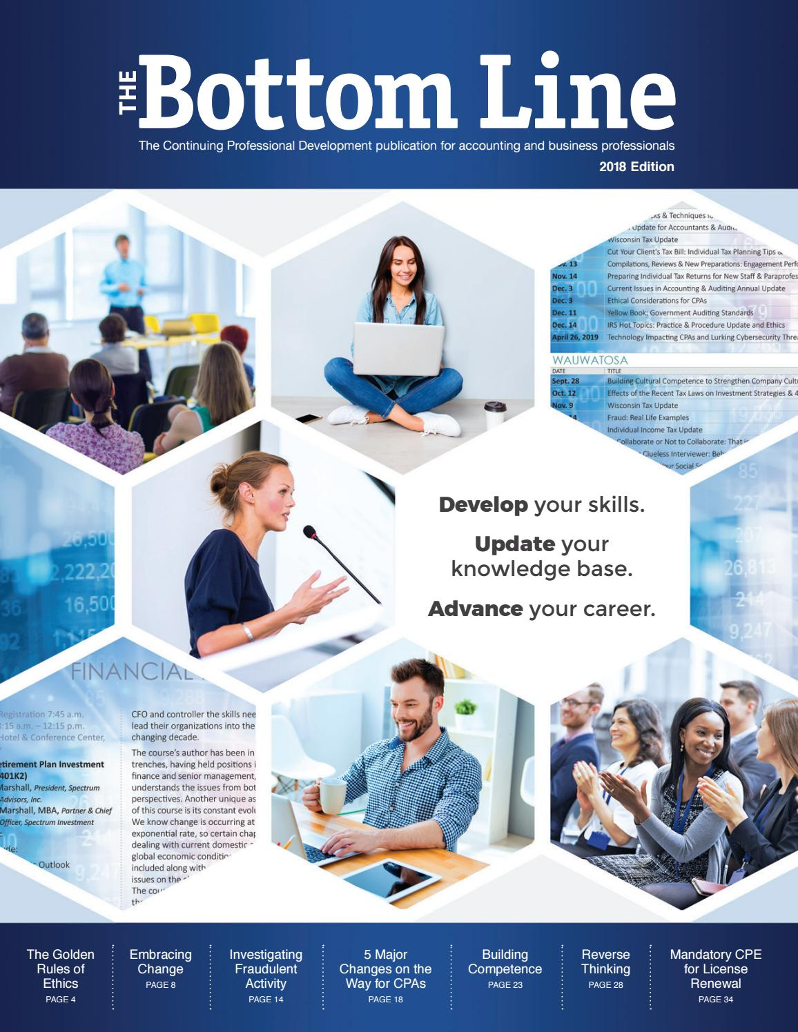 The bottom line 2018 edition by wicpa issuu fandeluxe Images