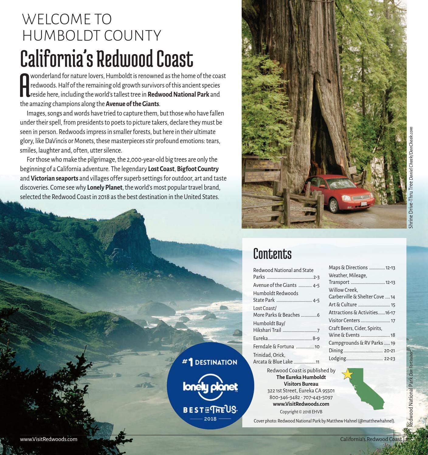 Map Of California Redwoods.Redwood Coast Map Guide By Eureka Humboldt Visitors Bureau Issuu