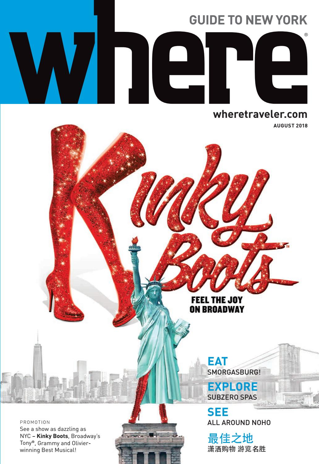 Where New York August 2018 by IN New York issuu