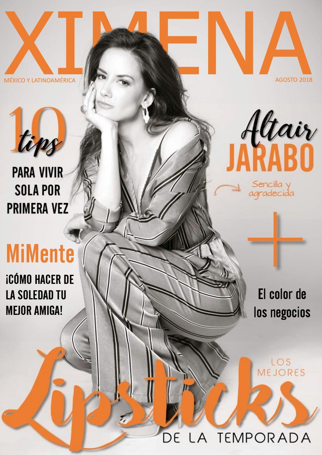Altair Jarabo Revista H revista ximena - agosto 2018 | altair jaraborevista