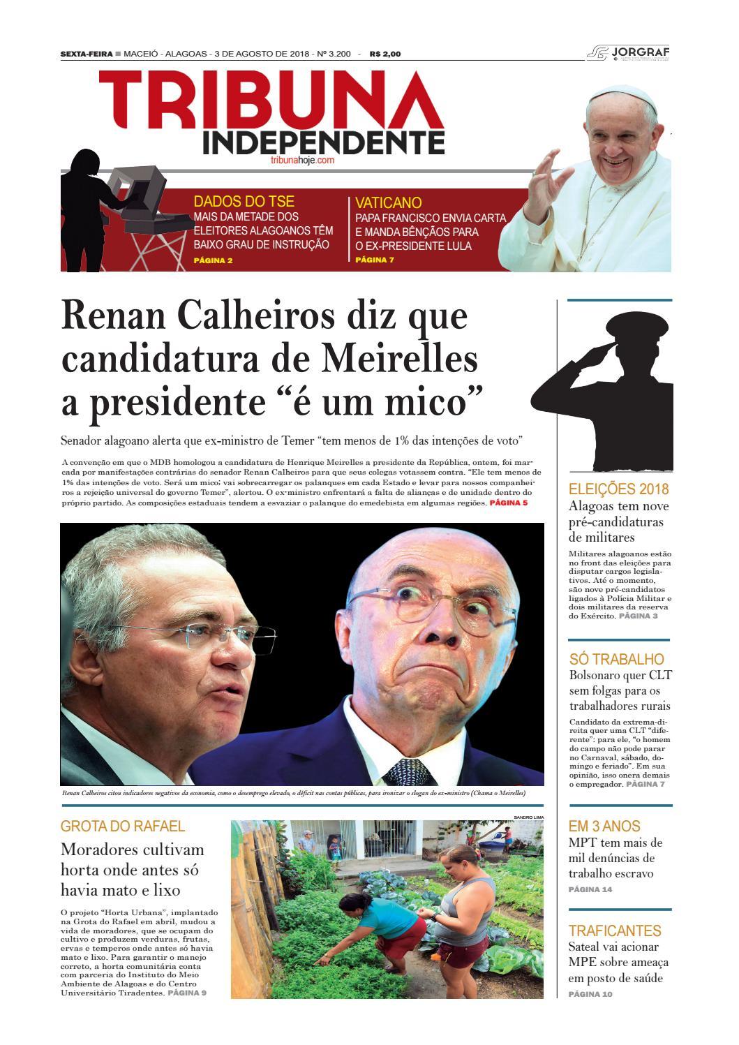 Edição número 3200 - 3 de agosto de 2018 by Tribuna Hoje - issuu 35f96eee230e