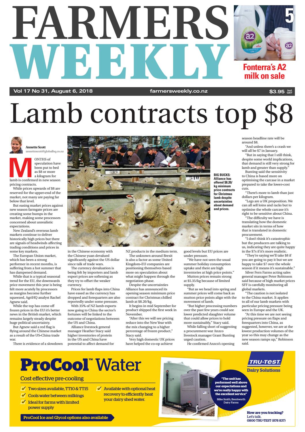 Farmers Weekly Nz August 6 2018 By Issuu Farmer Friendly Solar Based Electric Fencer For Rural Agriculture