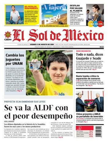 1f81bf457d El Sol de México 03 de agosto 2018 by El Sol de México - issuu