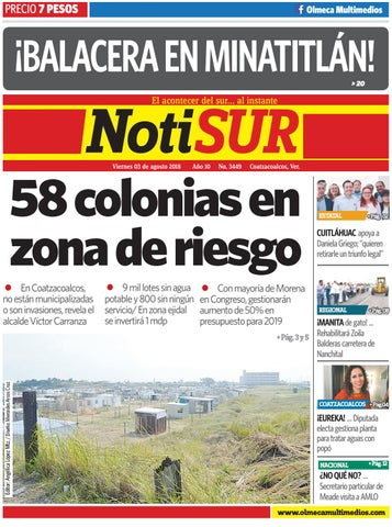 Notisur 03 De Agosto 2018 By Diario Notisur Coatzacoalcos