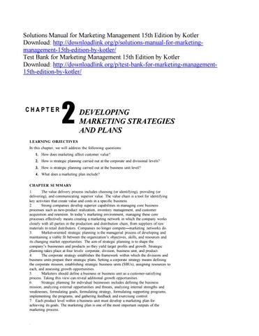 Marketing Management Kotler Keller 15th Edition Pdf
