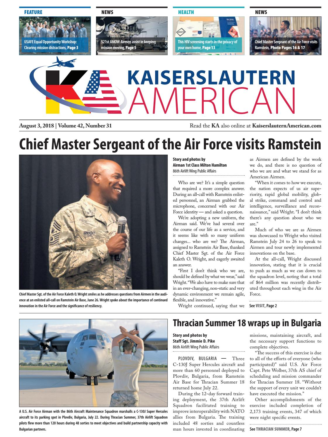 brand new 0d614 70be3 Kaiserslautern American, August 3, 2018 by AdvantiPro GmbH - issuu