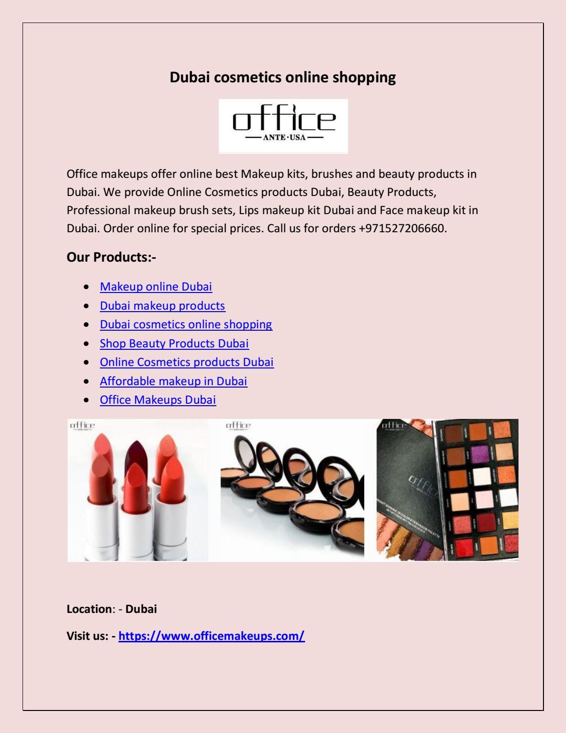 Dubai Cosmetics Online Ping By